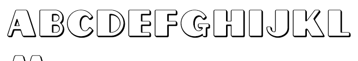 Grippo Outline Font LOWERCASE