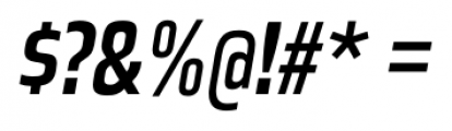 Great Escape Narrow Regular Italic Font OTHER CHARS