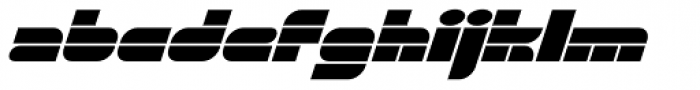 Gran Turismo Extended Italic Font LOWERCASE