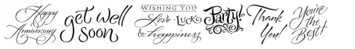 Greeting Cards Font LOWERCASE