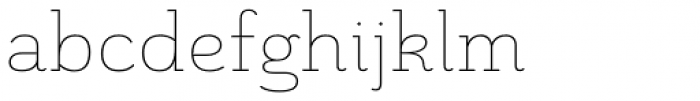 Grenale Slab Ext Thin Font LOWERCASE