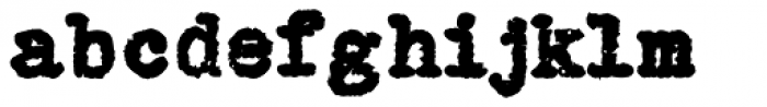 Grungy Old Typewriter Fat Font LOWERCASE