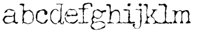 Grungy Old Typewriter Starved Font LOWERCASE