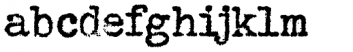 Grungy Old Typewriter Font LOWERCASE
