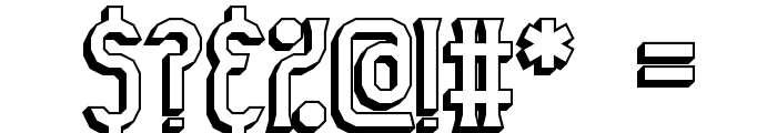 Gyneric 3D BRK Font OTHER CHARS