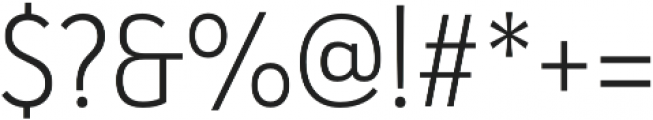 Haboro Sans Cond Light otf (300) Font OTHER CHARS