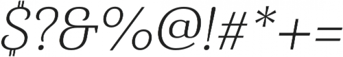 Haboro Serif Norm Light It otf (300) Font OTHER CHARS