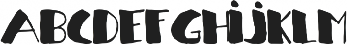 Handding two otf (400) Font LOWERCASE