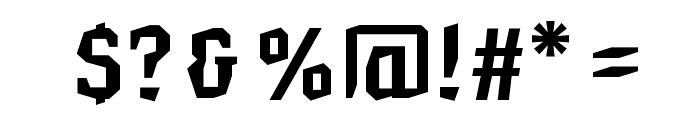 Hammerhead Bold Font OTHER CHARS