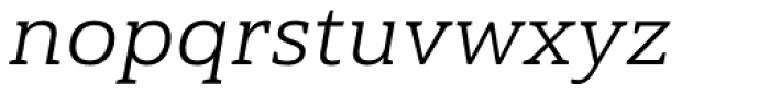 Haboro Slab Extended Book Italic Font LOWERCASE