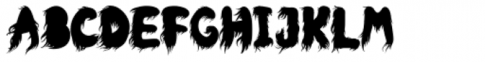 Hairy Beast Font LOWERCASE