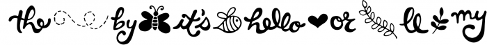 Hello Spring Font Font LOWERCASE
