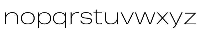 Heading Pro Wide Trial ExtraLight Font LOWERCASE