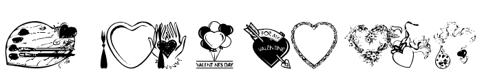 Heart & Soul Font OTHER CHARS