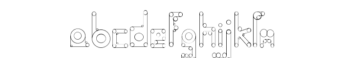 HelenBrown Outline Font LOWERCASE