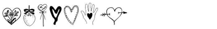 Heart Doodles Too Font LOWERCASE
