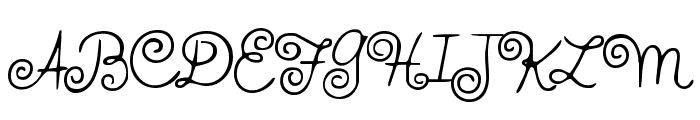 HFF Whirly Whorl Font UPPERCASE