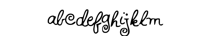 HFF Whirly Whorl Font LOWERCASE