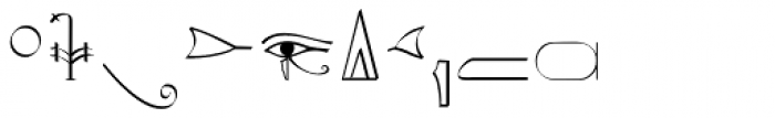 Hieroglyphic Phonetic Font OTHER CHARS