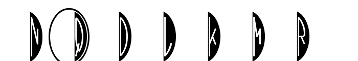 HMBlackOvalThree Font OTHER CHARS