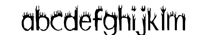 Hothead Font LOWERCASE