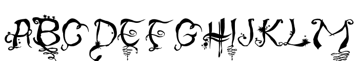 Hourglass Font UPPERCASE