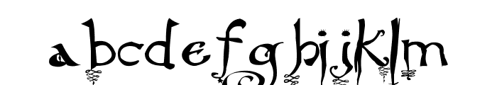 Hourglass Font LOWERCASE