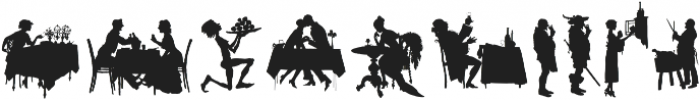 Human Silhouettes Two ttf (400) Font OTHER CHARS