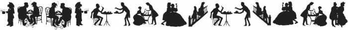 Human Silhouettes Two ttf (400) Font UPPERCASE