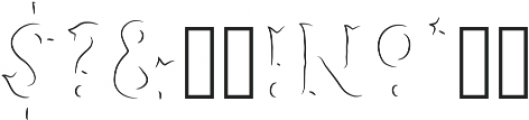 Humoresque B Engraved ttf (400) Font OTHER CHARS