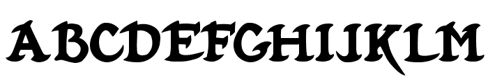 Hubbard Demo Font LOWERCASE