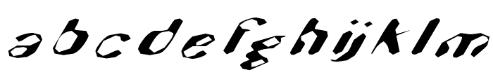 Hugenick Font LOWERCASE