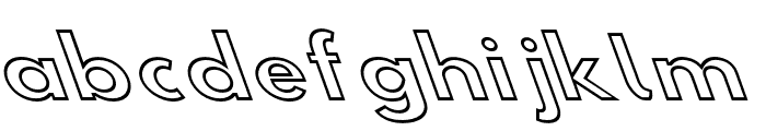 Hussar Simple SuperExtended Ghost OppositeOblique3 Font LOWERCASE
