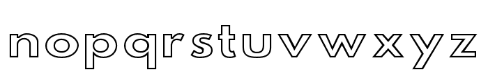 Hussar Simple SuperExtended Ghost Font LOWERCASE