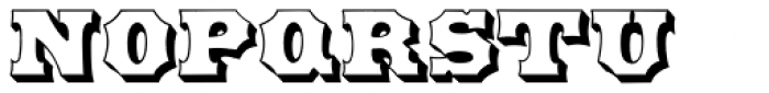 HWT American Outline Font LOWERCASE