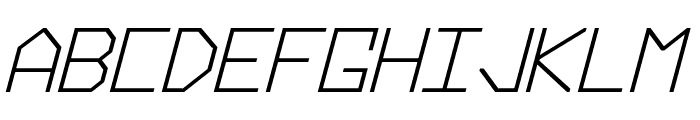 Hyperspace Bold Italic Font UPPERCASE