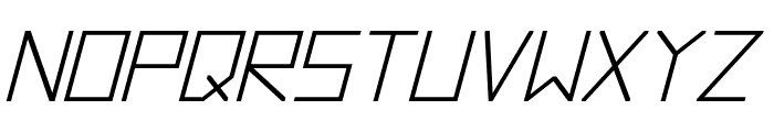 Hyperspace Bold Italic Font LOWERCASE