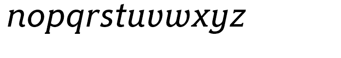 Hybrid Medium Italic Font LOWERCASE