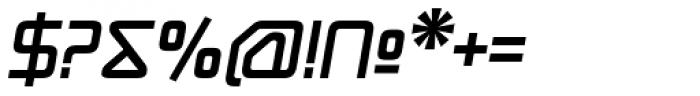 Hydrogen Bold Italic Font OTHER CHARS