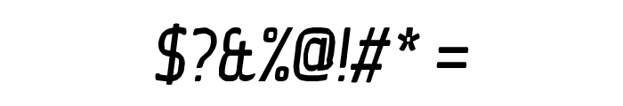 Ice Sans Compressed Italic Font OTHER CHARS
