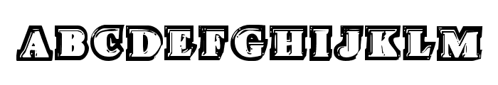 Icebox Art Staggered Regular Font LOWERCASE