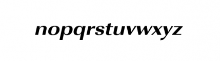 Imperial ExtraWide ExtraBold Oblique Font LOWERCASE
