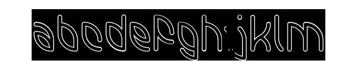 INTERPLANETARY-Hollow-Inverse Font LOWERCASE
