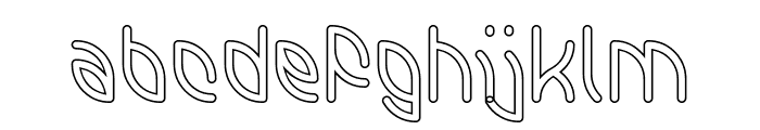INTERPLANETARY-Hollow Font LOWERCASE