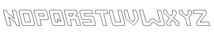 INVASION-Hollow Font UPPERCASE