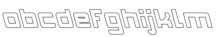 INVASION-Hollow Font LOWERCASE