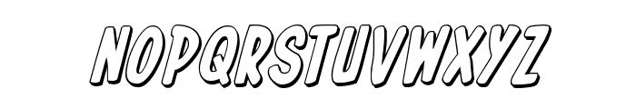 In-House Edition 3D Italic Font LOWERCASE