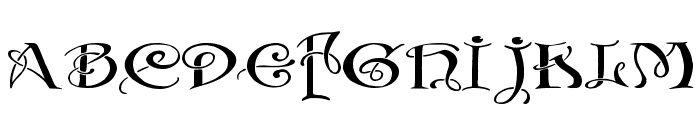 Initials with curls Font LOWERCASE
