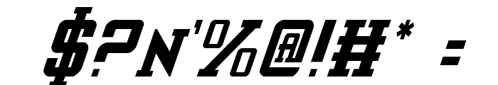 Interceptor Condensed Italic Font OTHER CHARS
