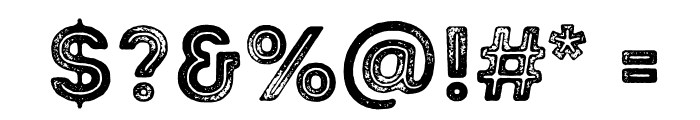 Intro Rust G Base 2 Line Font OTHER CHARS